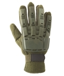 48573 V-Tac Full Finger Polymer Armored Tactical Gloves OD Green Medium