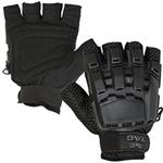 48665 V-Tac Half Finger Polymer Armored Tactical Gloves Black Small X-Small