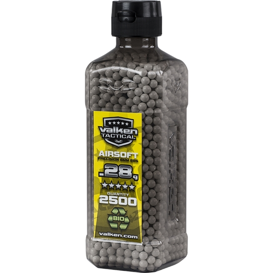Valken Tactical BIO .28g 6mm Precision Airsoft BBs (2500)