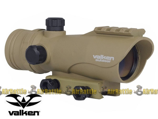 Valken Tactical Adjustable 30mm Illuminated Red Dot Airsoft Sight