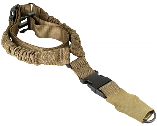 Aim Sports Rifle Sling - One/Single Point Bungee - Tan (AOPS01T)