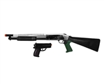 P799 Spring Powered Airsoft Shotgun with Hand Gun