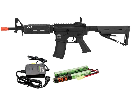 Valken Battle Machine Mod-EC AEG Airsoft Rifle Combo Kit - Black