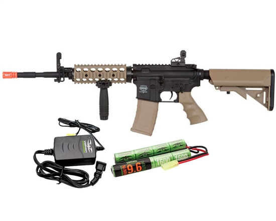 Valken Battle Machine TCC AEG Airsoft Rifle Package Kit - Black/DST