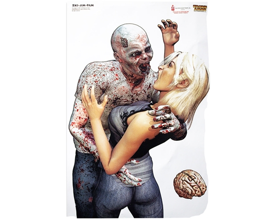 "3 Pack - 23"" x 35"" Shooting Targets - Zombie Jim & Pam"