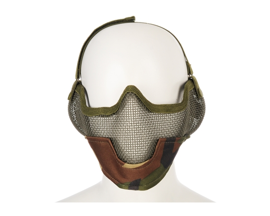 2G Striker Full Metal Face Mask w/ Ear Guard - Jungle Camo