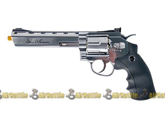 "Full Metal Dan Wesson 6"" CO2 Revolver Fully Licensed ( Chrome )"