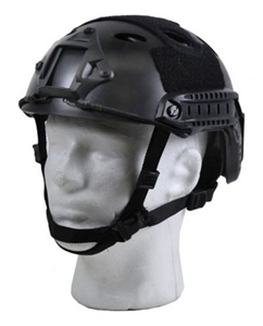 Bravo Pararescue Jumper Helmet Replica Airsoft Head Gear w/ Rail and NVG Mounts ( Black )
