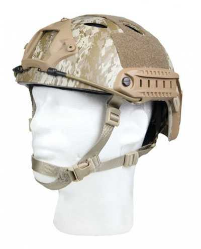 Bravo Pararescue Jumper Helmet Replica Airsoft Head Gear w/ Rail and NVG Mounts ( Digital Desert )