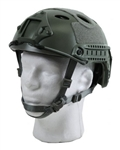 Bravo Pararescue Jumper Helmet Replica Airsoft Head Gear w/ Rail and NVG Mounts ( OD Green )