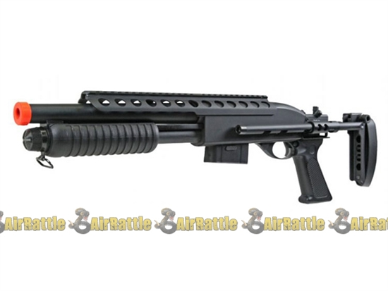 Bravo Full Metal Body Airsoft Pump Action Tactical Shotgun
