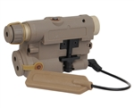 Bravo P15 Flashlight With Green Laser - FDE