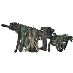 Bushrag Tactical Airsoft Rifle Rag Ghillie Kit - Woodland