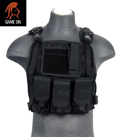 Lancer Tactical Ca 301b Airsoft Molle Plate Carrier Black