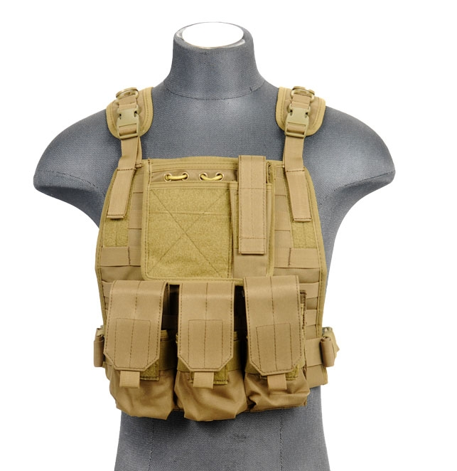 Lancer Tactical Airsoft Molle Plate Carrier W Pouches