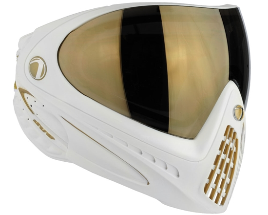 Dye Tactical i4 Thermal Full Face Mask Goggle System ( White/Gold )