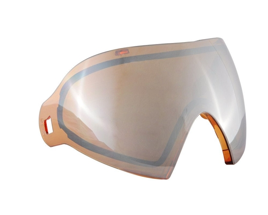 Dye Precision Dual Pane Anti-Fog Ballistic Rated Thermal Lens For i4/i5 Masks (Dyetanium Orange Silver)