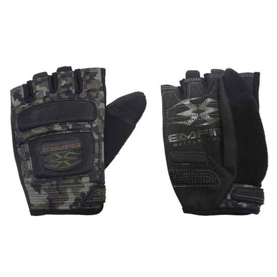 Empire Battle Tested Combat Tactical Airsoft Gloves - Woodland Digi