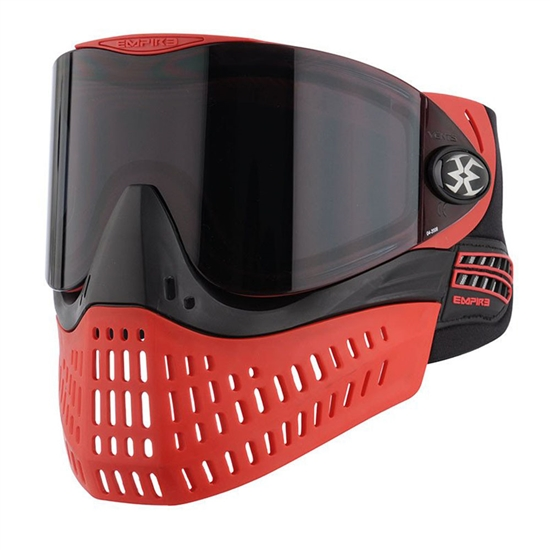 Empire Tactical E-Flex Full Face Airsoft Mask - Red/Black