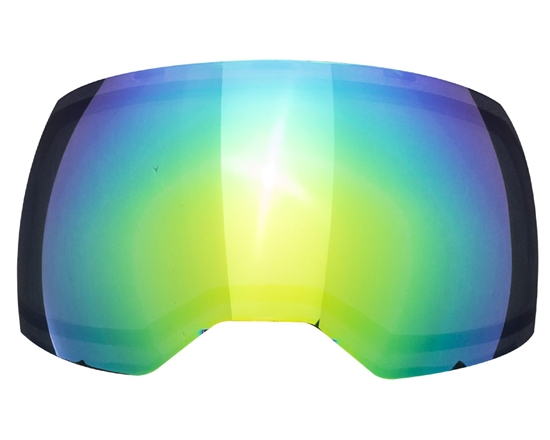 Empire Dual Pane Anti-Fog Ballistic Rated Thermal Lens For EVS Masks (Green Mirror)