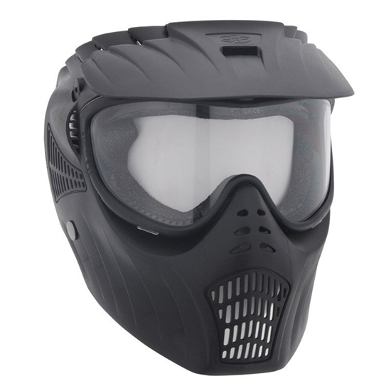 Empire Tactical X-Ray Full Face Airsoft Mask w/ Single Lens - Black