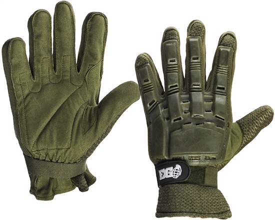 Enola Gaye Full Finger Tactical Airsoft Gloves - Green