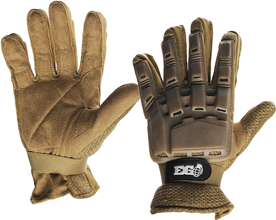 Enola Gaye Full Finger Tactical Airsoft Gloves - Tan