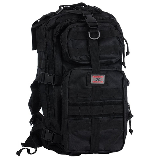 Gen X Global Mini Tactical Backpack w/ Molle Attachments - Black