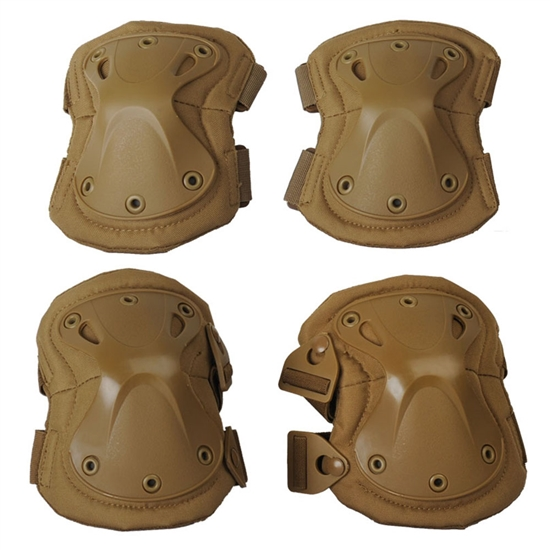 Gen X Global Tactical Airsoft Elbow & Knee Pad Set - Tan