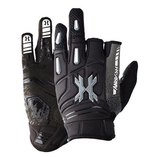 HK Army Two-Finger Hardline Tactical Airsoft Gloves - Charcoal