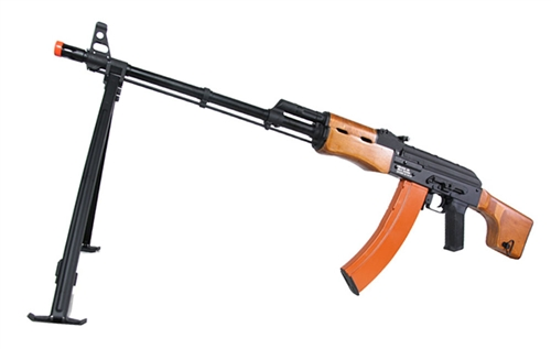 Echo1 Full Metal & Real Wood RedStar AK74 LMG Full Metal Airsoft AEG w/ Folding Bipod
