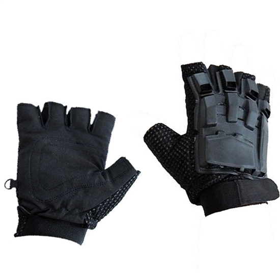 JT Hard Back Tactical Airsoft Gloves - Black