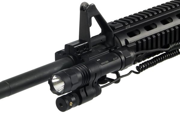 Lt Elp38 Utg 2 In 1 Metal Cree Led Flashlight Adjustable