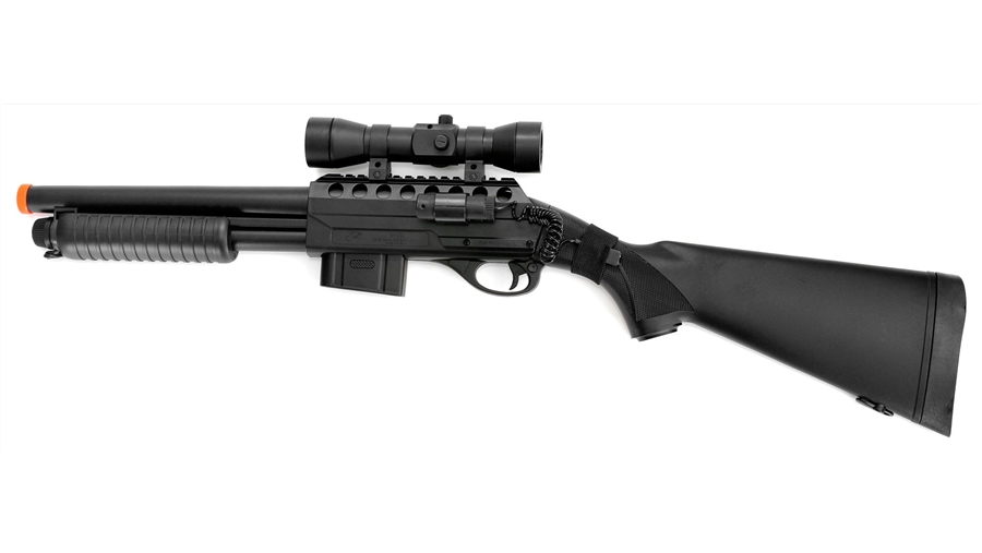 Populaire Double Eagle M47A2 Airsoft Pump Shotgun With Laser, Flashlight  VO69