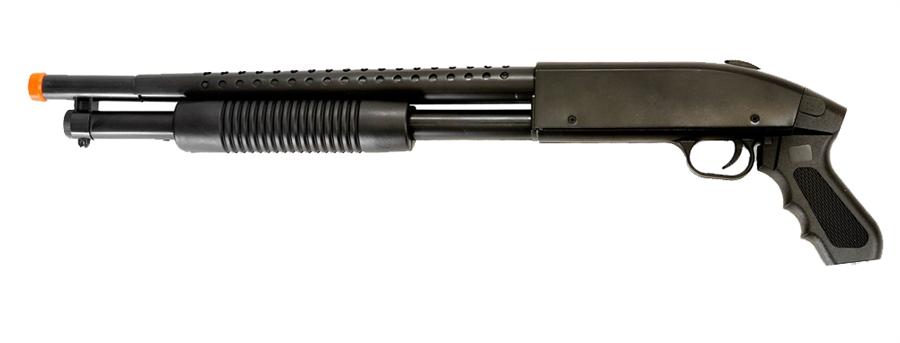 Airsoft Pump Action Pistol Grip Shotgun Sawed Off Spring Gun.