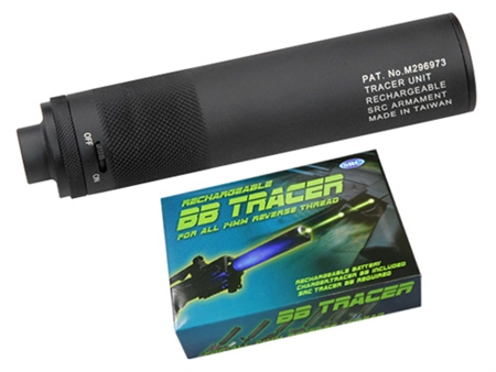 SRC Electric BB Tracer Airsoft Barrel Extension 14mm CC Thread