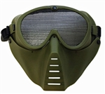 Full Face Tactical Airsoft Mask For Face And Eye Protection ( OD Green )