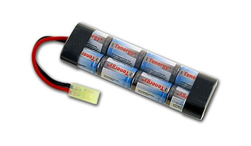 Tenergy 9.6v 1600mAh NiMH Airsoft Rechargeable AEG Gun Battery Small Type Brick