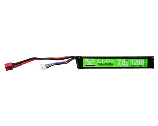 Valken 7.4v 1200mAh 20C Stick LiPo Airsoft Battery - (Female Dean) (78655)