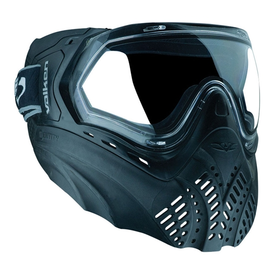 Valken Tactical Identity Full Face Airsoft Mask - Black/Black