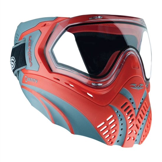 Valken Tactical Identity Full Face Airsoft Mask - Red/Grey