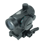 Valken Tactical Optic - 1x22 R/G/B Red Dot Sight w/ Weaver Quick Release (81341)