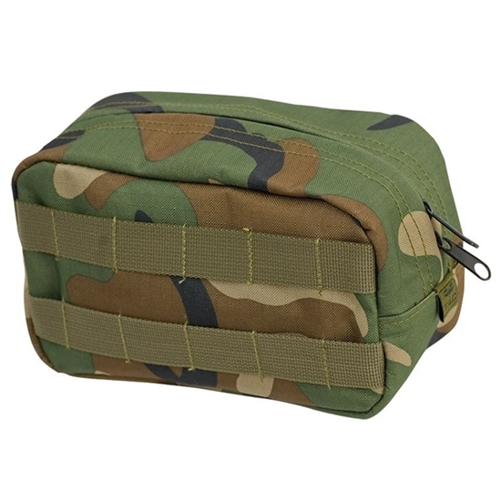Valken Tactical Vest Accessory Pouch - Zipper ( Woodland )