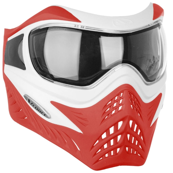 V-Force Tactical Grill Airsoft Mask - White/Red
