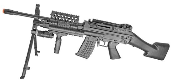 Mk46 Spring Action Ris Airsoft Rifle W   Flashlight