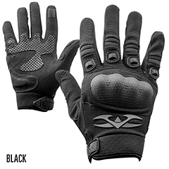 Zulu-Glove-B Valken Zulu Hard Knuckle Tactical Gloves Black Medium