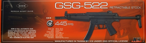 GSG-522 Airsoft Full Metal Gearbox AEG Gun W/ Battery & Charger