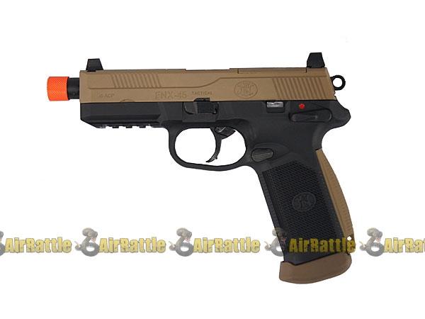 200508BT FN Herstal FNX-45 Tactical Airsoft GBB Pistol ( Black Frame ...
