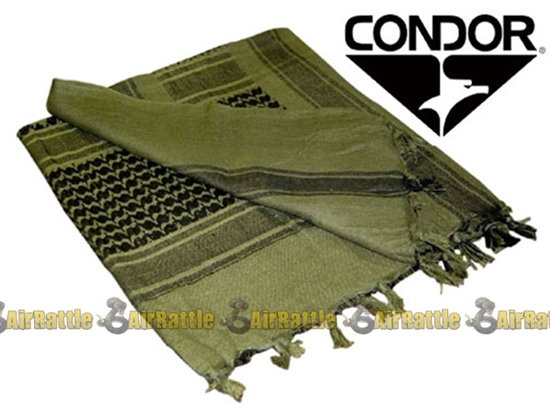 Condor Tactical Shemagh Face, Neck, and/or Head Wrap ( OD / Black )
