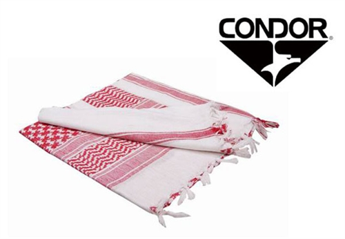 Condor Tactical Shemagh Face, Neck, and/or Head Wrap ( Red / White )